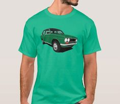 Great Datsun 1600 or 510 from was popular family car all around the world. Get this retro car illustration printed in T-shirts and other items. Retro Cars, Vintage Cars, Datsun 1600, Datsun Bluebird, Japanese Cars, Classic Cars, Green, Mens Tops, T Shirt
