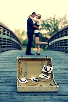 Engagement/Wedding PIc.. I love this since I had to move 10 hours from home for Zack.. =)