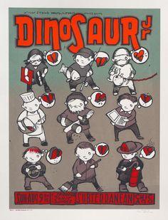 """Dinosaur Jr. – Chicago, IL 2015″ by Jay Ryan. 18″ x 24″ 3-color Screenprint. Ed of 160 S/N."