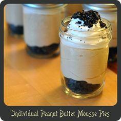 Peanut Butter Mousse Pies