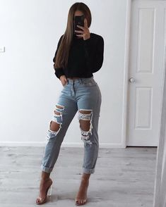 Jean Jacket outfits – Page 6003986597 – Lady Dress Designs Casual Winter Outfits, Simple Outfits, Classy Outfits, Chic Outfits, Trendy Outfits, Fall Outfits, Fashion Outfits, Cute Everyday Outfits, Preppy Winter