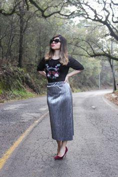 Falda metálica