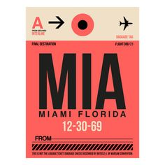 My design inspiration: MIA Miami Baggage Tag on Fab.