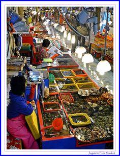 The Jagalchi Fish Market, Busan, South Korea Copyright: Kris Verhoeven