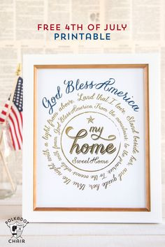 Free printables to use with the Minc foil machine by Heidi Swapp, Free 4th of July printables and 4th of July party ideas, 4th of July Crafts