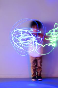 Inspired by picasso—make light paintings with children. Click here for more information! #kids