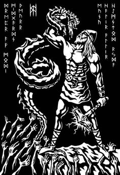 Thor - - Pinned by The Mystic's Emporium on Etsy Viking Art, Viking Warrior, Viking Life, Norse Pagan, Pagan Art, Mythology Books, Norse Mythology, Norse Tattoo, Viking Tattoos