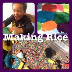 Coloured rice