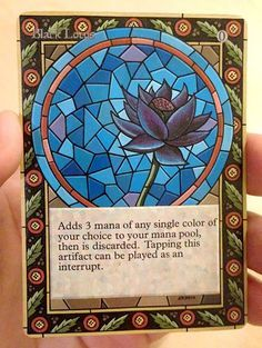 magic altered - Black Lotus -Stained Glass