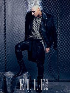 Big Bang's Taeyang in Charismatic Silver Hair for ELLE Magazine . Daesung, Korean Boy Bands, South Korean Boy Band, Ringa Linga, Top Choi Seung Hyun, Hip Hop, Punks Not Dead, Brown Eyed Girls, Elle Magazine