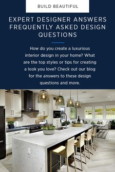 Visit our blog for expert advice on some of the most frequently asked questions regarding #InteriorDesign.  #LoveEverythingAboutHome Luxury Interior, Interior Styling, Interior Design, Angela Harris, Design Trends, My Design, Maximize Small Space, Maple Cabinets, Transitional Decor