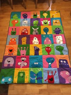 Look at this FABULOUS monster quilt that Moss Moss just finished! Pattern: http://craftsy.me/2hk5u5m