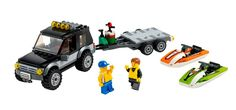 LEGO City: 2014 Vehicle Sets Racing Car (60053) Light Repair Truck (60054) Camper Van (60057) SUV with Watercraft (60058) Logging Truck (600...