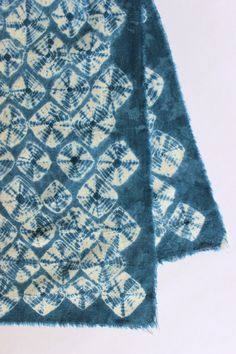Spiderweb Shibori Plant Dyed Cotton Muslin Shawl Scarf by Rejell