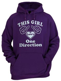 This girl love's ONE DIRECTION hoodie