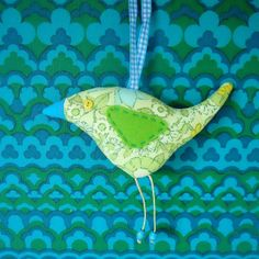 Lime  Retro Bird £7.50