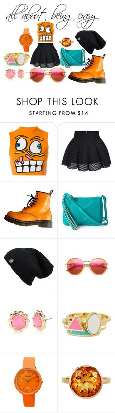 """""""Untitled #37"""" by aniapenguin on Polyvore featuring Jeremy Scott, Dr. Martens, Wildfox, Kate Spade, Ariella Collection, Crayo and Plukka"""