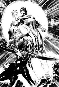 Green Lantern & Green Arrow by Jim Lee