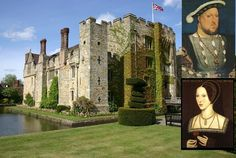 Hever Castle was childhood home of Anne Boleyn, Kent, England