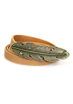 Skinny Feather Belt