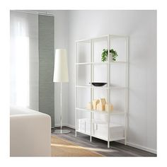 IKEA VITTSJÖ shelving unit Adjustable feet; stands steady also on an uneven floor.