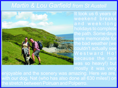 Martin & Lou Garfield from St Austell - South West Coast Path Completers South West Coast Path, Long Holiday, Weekend Breaks, Cornwall, 6 Years, Paths, Coastal, How To Memorize Things, Weather