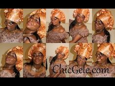 How to tie Gele: Bridal style II - YouTube Natural Hair Accessories, Natural Hair Styles, How To Tie Gele, Natural Afro Hairstyles, African Fabric, Head Wraps, Bridal Style, Fashion Beauty, Easy