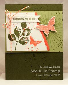 See Julie Stamp - Julie Wadlinger, Stampin' Up! Demonstrator : Swap: Cards in the Mail | Kinda Eclectic