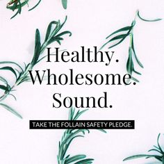 Join me in taking the #follainsafetypledge - and starting a #beautyrevolution!