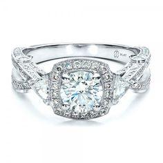 Custom Diamond Engagement Ring - 1451 | Joseph Jewelry Seattle Bellevue