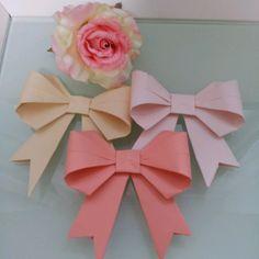 *折り紙リボンガーランド*|ぽんのweddingとしあわせにっき+☆°