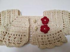 LE CREAZIONI DI SARA    Fare un vestitino per una bimba non è semplicissimo, perchè ci si deve regolare con le misure.   Spesso abbiamo un... Cute Crochet, Beautiful Crochet, Easy Crochet, Baby Patterns, Bolero Pattern, Crochet Cardigan Pattern, Crochet Baby Clothes, Baby Sweaters, Baby Girls