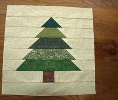 Pine Tree Quilt Block Pattern Multi Size Pdf Trees