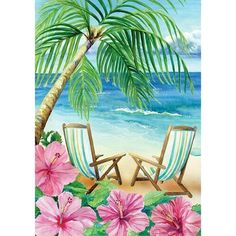 """Diamond Painting Summer Beach Coconut Flower Paint with Diamonds Art Crystal Craft Decor - """" Best Picture For trends funny For Your Taste You are looking for something, and it is going t - Art Tropical, Art Plage, Coconut Flower, Image Beautiful, Summer Painting, Pictures To Paint, Painting Inspiration, Painting & Drawing, Beach Drawing"""