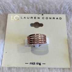 LC Lauren Conrad Rose Gold Midi Ring Brand new with tags. Never been worn. LC Lauren Conrad Jewelry Rings