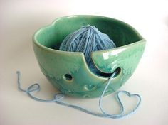 This pot if functional for weavers or for your own ball of string of twine - but it is pretty too!