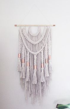DESCRIPTION - Beautiful handmade macrame wall hanging that will definitely add something special to any space. This is a personal favorite! This