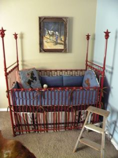 love the red crib