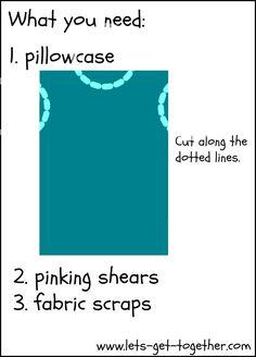 DIY Biblical Costumes using a pillowcase!