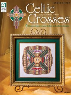 Celtic Crosses 9 designs by Mike Vickery - House of White Birches Book NEW by NanasCrossStitch on Etsy Celtic Cross Stitch, Cross Stitch Samplers, Cross Stitch Charts, Cross Stitching, Cross Stitch Patterns, Celtic Patterns, Celtic Designs, Cross Designs, Celtic Crosses