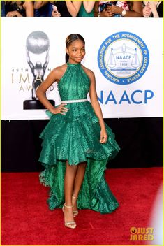Marsai Martin Photos - Marsai Martin attends the NAACP Image Awards at Pasadena Civic Auditorium on January 2018 in Pasadena, California. Prom Dresses For Teens, Prom Dresses Online, Nice Dresses, Dress Online, Celebrity Red Carpet, Celebrity Look, Celebrity Dresses, Teen Fashion, Fashion Outfits