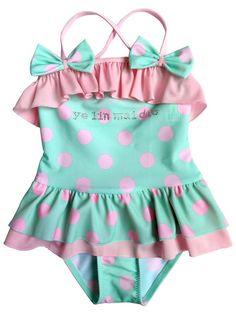 Baby Gap Girl/'s Spring 2017 Neon Giraffe Ruffle One Piece Swim Suit NEW Size 2T