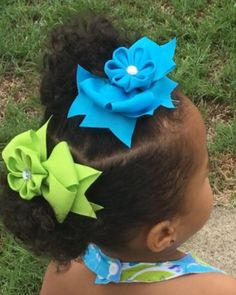 A personal favorite from my Etsy shop https://www.etsy.com/listing/458922240/kanzashi-flower-bows