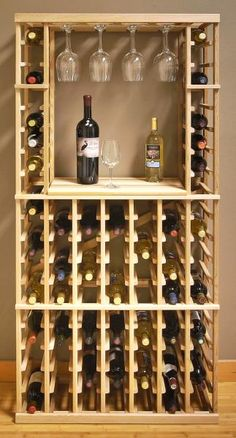 Build your own wine rack - 25 creative ideas- Weinregal selber bauen – 25 kreative Ideen Vinho, ripas de madeira -