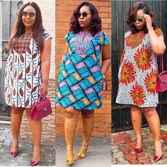 Three times the Charm😍😍😍😍 Nina is such a Stunner. Very Comfortable Chic and Classy.😘 Which Nina is your favourite? Short African Dresses, Ankara Short Gown Styles, African Print Dresses, Short Dresses, African Fashion Ankara, Latest African Fashion Dresses, Moda Afro, Africa Dress, African Traditional Dresses