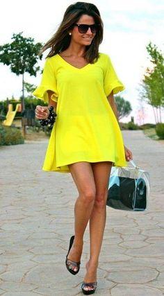 Vestido Amarelo Limão