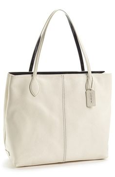 COACH Leather Tote available at #Nordstrom Coach Handbags Outlet, Purses And Handbags, Coach Bags, Coach Outlet, Handbag Stores, Popular Bags, Bag Sale, Fashion Bags, Womens Fashion