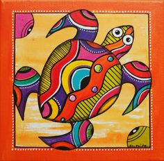 Peinture de Kawann, la petite tortue : Décorations murales par sylphide