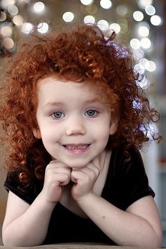Beautiful 6 Year Old Girl With Dark Long Curly Hair