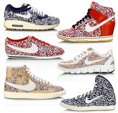 Liberty London x Nike Collaboration.  Love these platform kicks, wish I could get my hands on a pair.